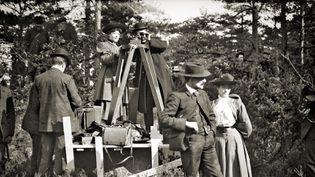 Alice-Guy Blanchet et son équipe sur un tournage aux Etats-Unis dans les années 1900-10. (Copyright Splendor Films)