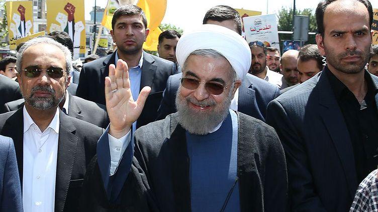 Le président iranien, Hassan Rohani, le 10 juillet 2015, à Téhéran (Iran). ( AFP )