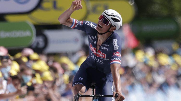 Mathieu van der Poel (Alpecin-Fenix) a remporté la deuxième étape du Tour de France 2021. (STEPHANE MAHE / POOL)