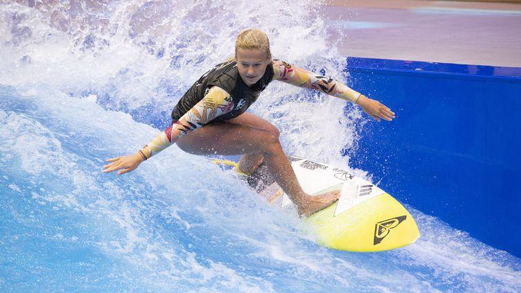 Du surf indoor à Düsseldorf en Allemagne, le 17 janvier 2020. Photo d'illustration. (MALTE OSSOWSKI / AFP)