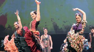 Des danseuses du ballet d'Andalousie, lors de l'édition 2014 de Arte Flamenco  (Jean-Pierre Muller / AFP)