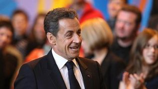 Nicolas Sarkozy participe à une table ronde sur la culture, à Chaumont, le 13 octobre 2011. (AFP - François Nascimbeni)