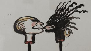 La lutte contre les ségrégations raciales et les injustices ont marqué Tomi Ungerer depuis son enfance. Les dessins et affiches présentés dans cette exposition illustrent à nouveau sa révolte contre les injustices.  (Tomi Ungerer)