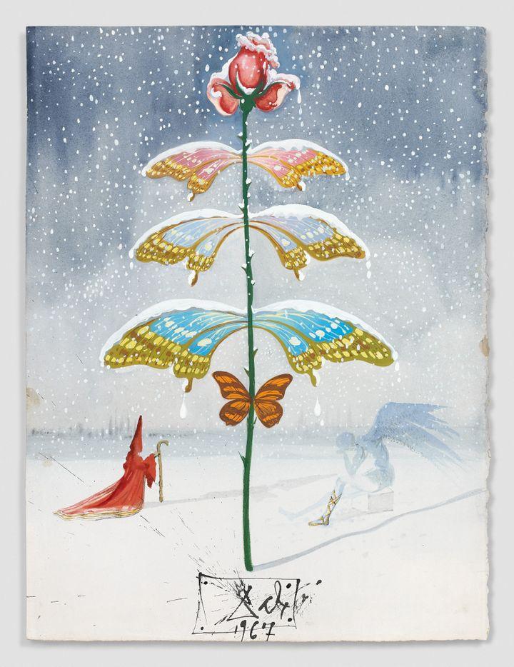 Des Cartes De Vœux Originales De Salvador Dali Aux Encheres