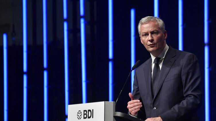 Bruno Le Maire, le 4 juin 2019,à Berlin (Allemagne). (JOHN MACDOUGALL / AFP)