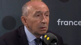 Gérard Collomb, sur franceinfo, dimanche 20 octobre. (FRANCEINFO / RADIOFRANCE)