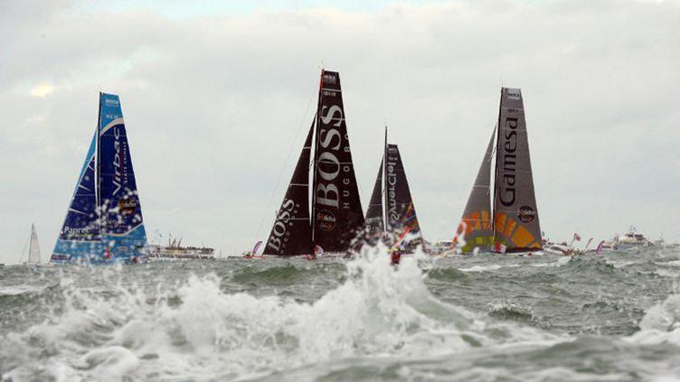 Le départ de la 7e édition du Vendée Globe, donnée à 13h02 le samedi 10 novembre 2012