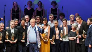 Festival du Film francophone d'Angoulême, les lauréats, 28 août 2016  (Yohan BONNET / AFP)