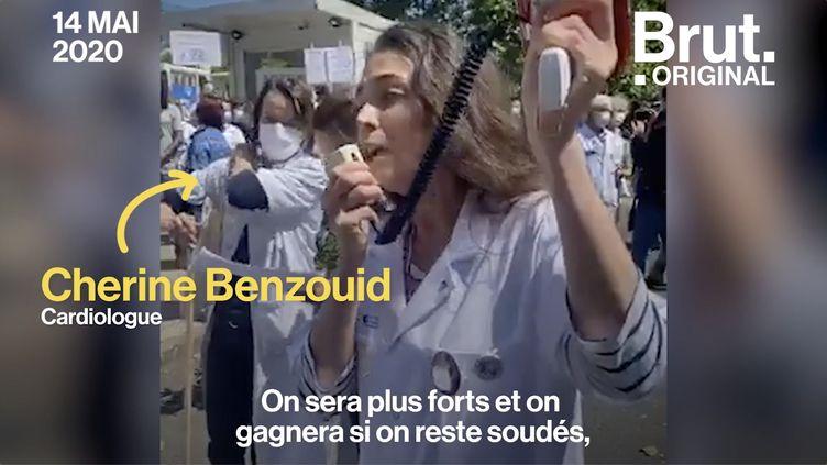 """VIDEO. """"Leur médaille, on n'en veut pas"""" : le cri d'alarme de la docteure Cherine Benzouid (BRUT)"""