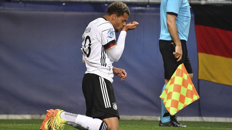 L'attaquant de l'Allemagne Lukas Nmecha a été le seul buteur de la finale. (FRANK HOERMANN/SVEN SIMON / SVEN SIMON)