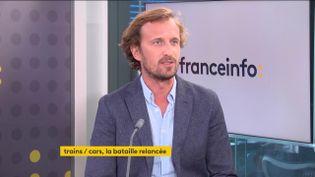 Yvan Lefranc-Morin, dircteur général de Flixbus (le 5 ocotbre 2021). (FRANCEINFO / RADIO FRANCE)