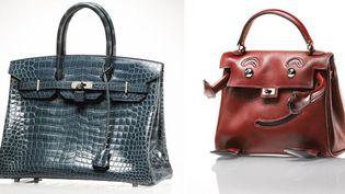 """Sac Birkin (60.900 euros) + sac """"Quelle idole"""" (25.000 euros à droite), vente Hermès juillet 2012  (Hermès)"""