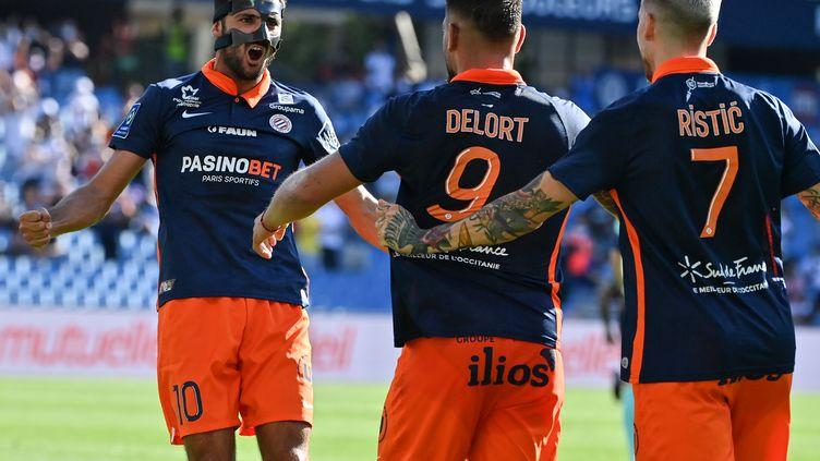 Gaëtan Laborde a ouvert le score pour Montpellier (PASCAL GUYOT / AFP)