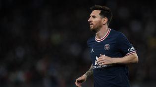 L'Argentin Lionel Messi lors de rencontre Lyon contre le Paris Saint-Germain, dimanche 19 septembre 2021. (JOSE BRETON / NURPHOTO / AFP)