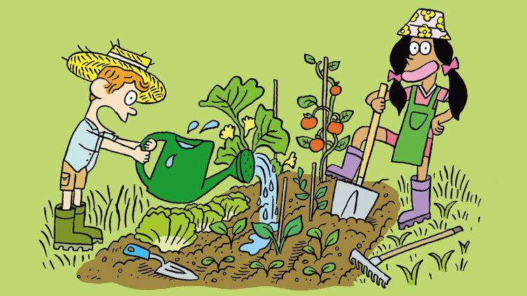 Cette semaine, on jardine avec Salut l'info ! Un dessin signé El Don Guillermo. (FRANCEINFO / RADIOFRANCE / BAYARD)