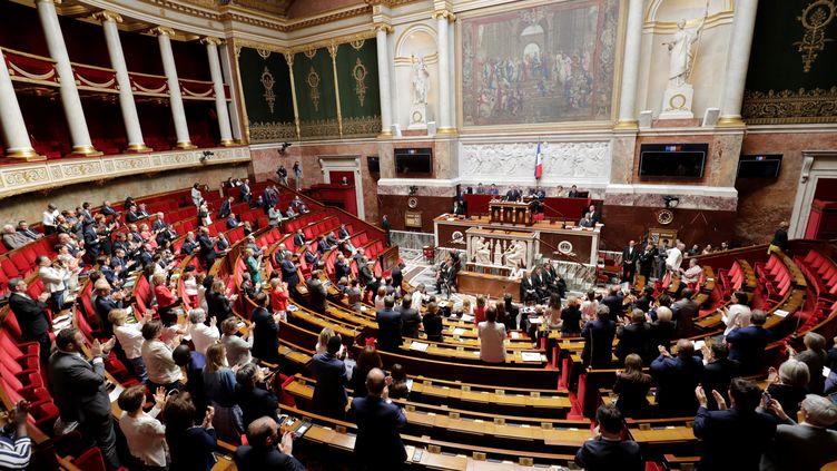 Les députés réunis dans l'hémicycle de l'Assemblée nationale, le 20 juin 2018 à Paris. (THOMAS SAMSON / AFP)