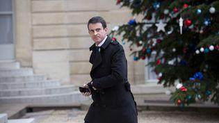 Le Premier ministre Manuel Valls, le 5 janvier 2016 au palais de l'Elysée, à Paris. (MAXPPP)