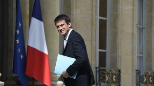 Manuel Valls, le 29 juillet 2015, au palais de l'Elysée, à Paris. (ALAIN JOCARD / AFP)