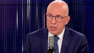 Eric Ciotti, député des Alpes-Maritimes et candidat à la présidentielle au congrès Les Républicains, était l'invité de franceinfo mercredi 27 octobre 2021. (FRANCEINFO / RADIOFRANCE)