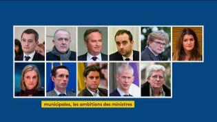 Les ministres candidtas aux municipales de mars au 29 janvier 2020 (FRANCEINFO)