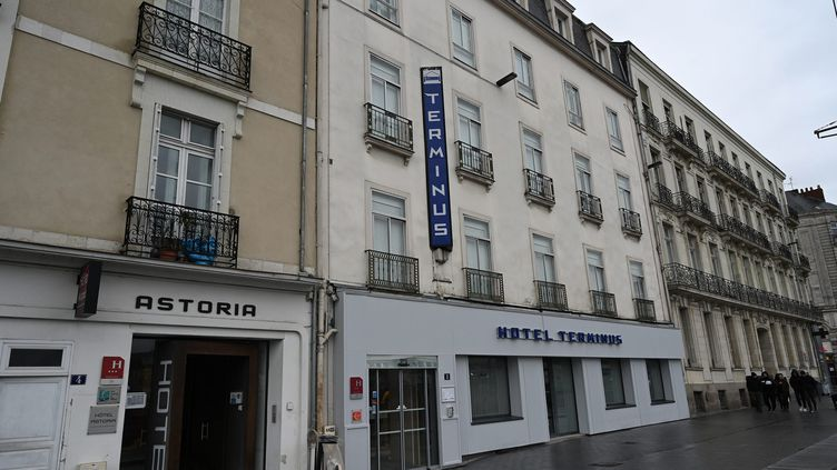 C'est dans cet hôtel de Nantes (Loire-Atlantique) que la mère de Vanille s'est rendue le 7 février 2020, après avoir tué sa fille d'un an, Vanille, à Angers (Maine-et-Loire). (MAXPPP)