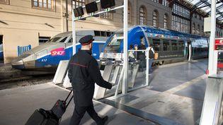 Un contrôleur SNCF en gare de Marseille Saint-Charles (Bouches-du-Rhône), le 8 janvier 2016. (MAXPPP)
