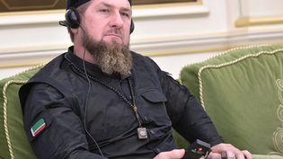Le dirigeant tchétchène Ramzan Kadyrov à Riyad (Arabie Saoudite), en marge d'une rencontre entre le président russe Vladimir Poutine et le roi Salman d'Arabie Saoudite, le 14 octobre 2019. (ALEXEY NIKOLSKY / SPUTNIK)