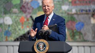 Le président américain, Joe Biden, lors d'un discours à Washington (Etats-Unis), le 10 septembre 2021. (SAUL LOEB / AFP)
