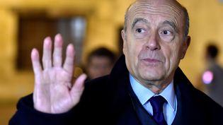 Le maire de Bordeaux Alain Juppé arrive à une rencontre littéraire le 1er février 2017 à Bordeaux. (GEORGES GOBET / AFP)