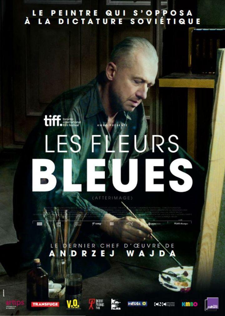 """""""Les Fleurs bleues"""" : l'affiche française  (KMBO)"""
