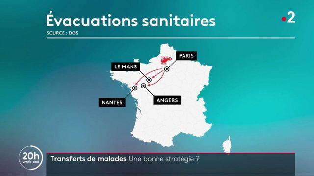 Covid-19 : des patients d'Île-de-France évacués en hélicoptère vers l'ouest du pays