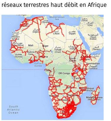 Réseaux terrestres haut débit en Afrique (2016) (Network Startup Resource Center)