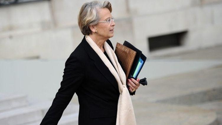 Michèle Alliot-Marie, en septembre 2010, lorsqu'elle était encore au gouvernement. (AFP - LIONEL BONAVENTURE)