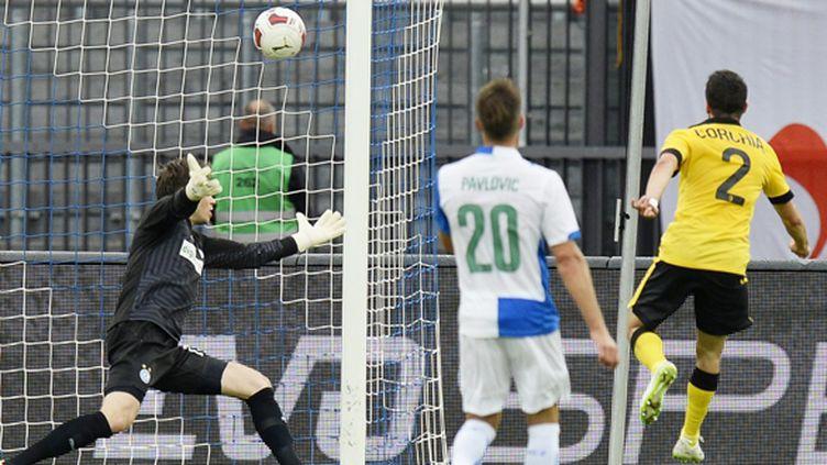 Sébastien Corchia avait signé son arrivée à Lille au match aller avec un but à Zurich (STEFFEN SCHMIDT / MAXPPP)