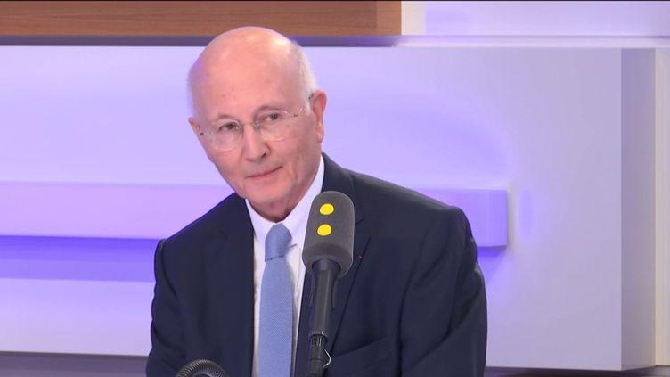 Charles Coppolani, président de l'Arjel, le 5 juillet 2019. (RADIO FRANCE / FRANCEINFO)