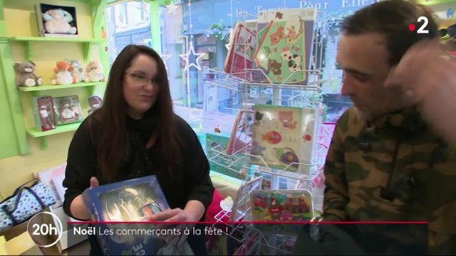 Noël : les commerçants à la fête