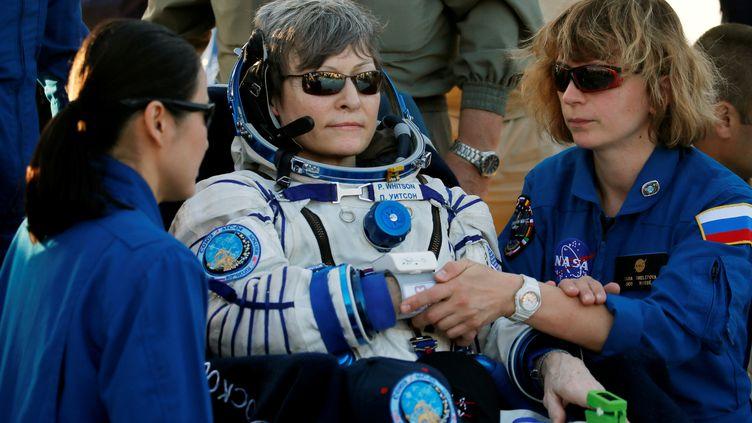 L'astronaute Peggy Whitson, à son retour sur Terre, le 3 septembre 2017. (REUTERS)
