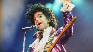 Prince en concert à Inglewood (Californie, Etats-Unis), le18 février 1985. (LIU HEUNG SHING / AP / SIPA)