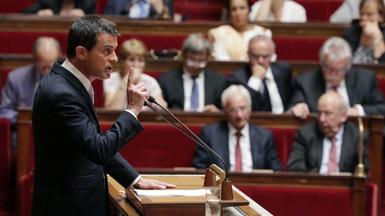 Manuel Valls, à l'Assemblée nationale, mercredi 15 juillet 2015. ( JACKY NAEGELEN / REUTERS)
