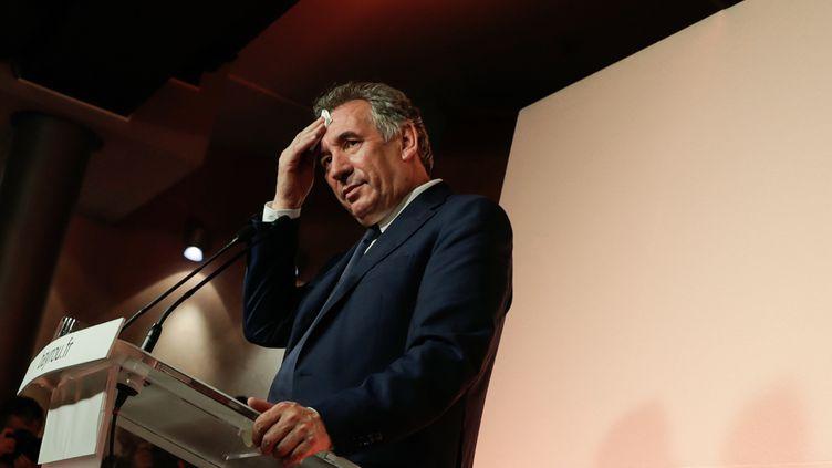 François Bayrou lors d'une conférence de presse, à Paris, le 21 juin 2017. (THOMAS SAMSON / AFP)