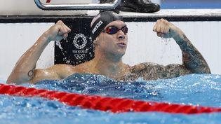 Caeleb Dressel aux Jeux de Tokyo, le 1er août 2021. (ODD ANDERSEN / AFP)