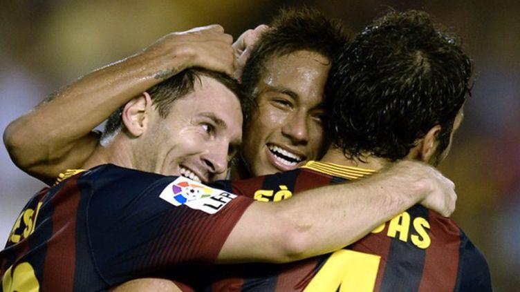La joie des Barcelonais (LLUIS GENE / AFP)