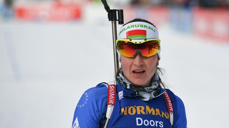 La biathlète biélorusse, Darya Domracheva. (ALEXANDER VILF / SPUTNIK)