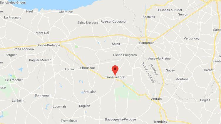 Un incendie s'est déclaré jeudi soir dans une porcherie de Trans-la-Forêt en Ille-et-Vilaine. (CAPTURE ECRAN GOOGLE MAPS)