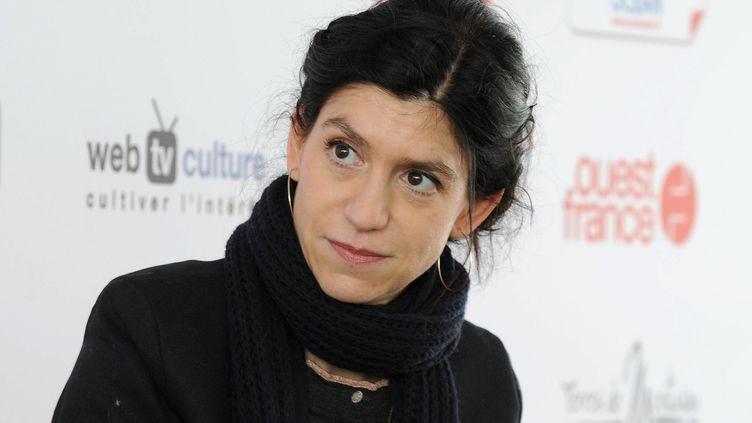 Clara Dupont-Monod, au salon du livre de Montaigu (Vendée), le 28 mars 2015. (MAXPPP)
