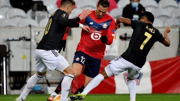 Yusuf Yazici et les Dogues sont passés à côté de leur match contre l'Ajax (DENIS CHARLET / AFP)
