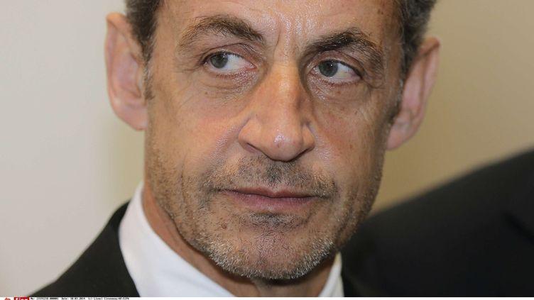 Nicolas Sarkozy, le 10 mars 2014, à la fondation Claude-Pompidou, à Nice (Alpes-Maritimes). (LIONEL CIRONNEAU / AP / SIPA)