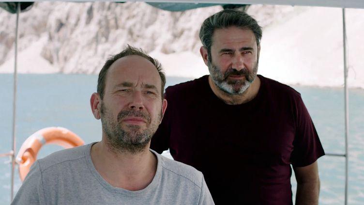 """Olivier Gourmet et Sergi Lopez, dans """"En amont du fleuve"""" de Marion Hänsel  (KINORAMA / MAN S FILMS / SNG FIL / COLLECTION CHRISTOPHEL)"""