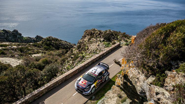 Sébastien Ogier lors du Tour de Corse. (THOMAS FENETRE / DPPI MEDIA)
