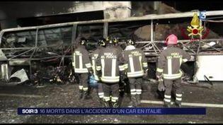 L'accident de car en Italie a fait 16 morts. (FRANCE 3)